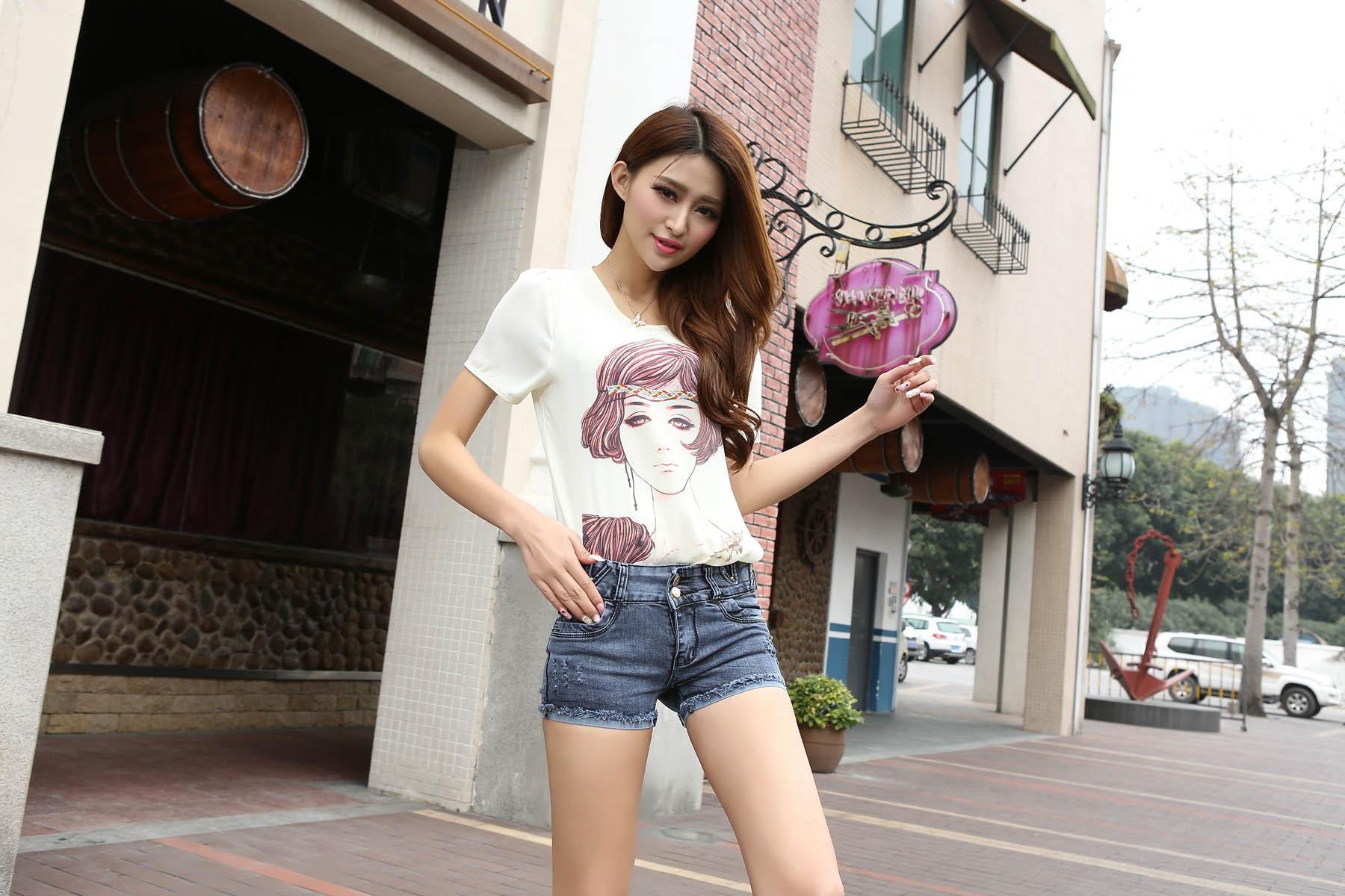 短裤女夏装 短裤搭配图片 短裤女夏装图片 裤裙