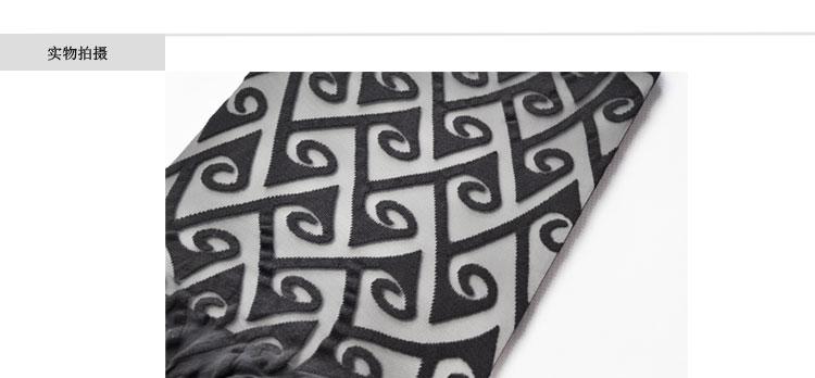 西班牙platino进口正品个性大几何花纹演出女丝袜连裤袜子 灰色 m-2
