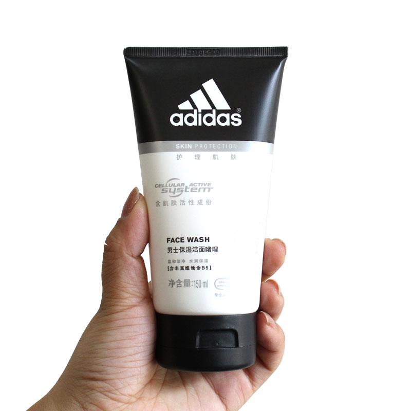adidas阿迪达斯男士保湿洁面啫喱 2合1 150ml补水洗面奶 正品 买就送