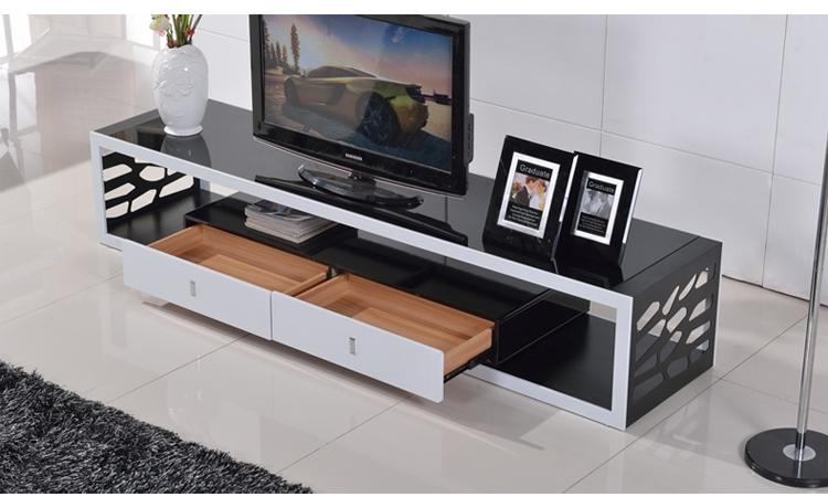 乐和居 客厅电视柜 简约 烤漆 地柜 镂空 2米