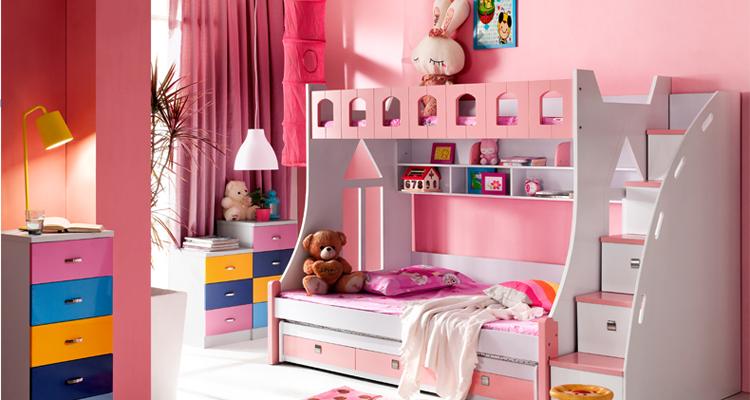 女生房间卧室设计图双层床