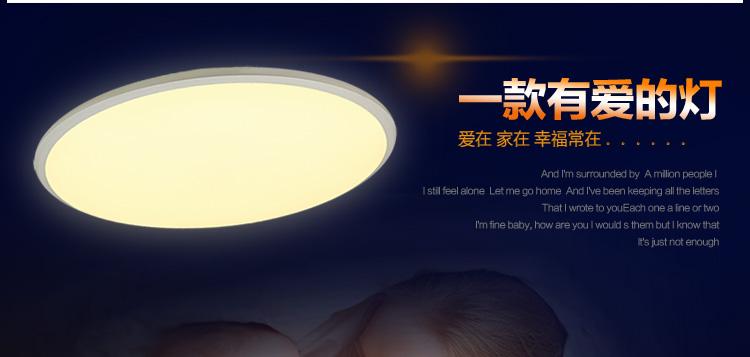 耐特森 简约超薄led吸顶灯卧室灯房间灯 可调光调色多档位智能遥控