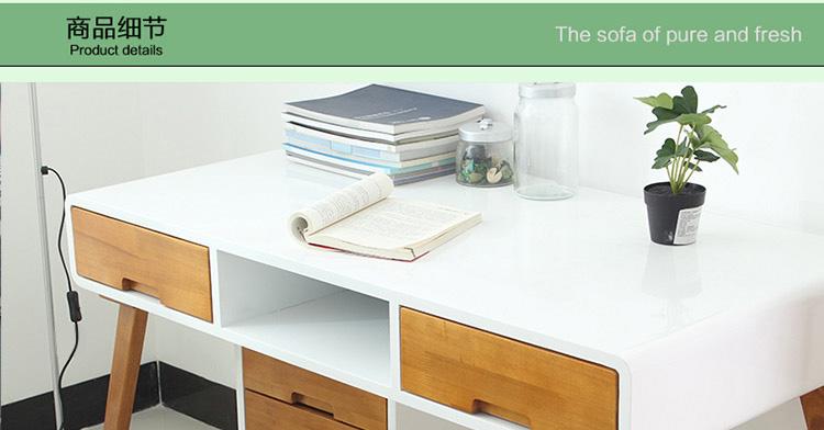 秀舍 韩式家具 现代简约杨木实木书桌 北欧宜家电脑桌图片