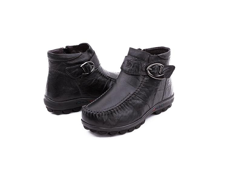 camel骆驼牌女鞋2013冬季新款柔软舒适橡胶底坡跟