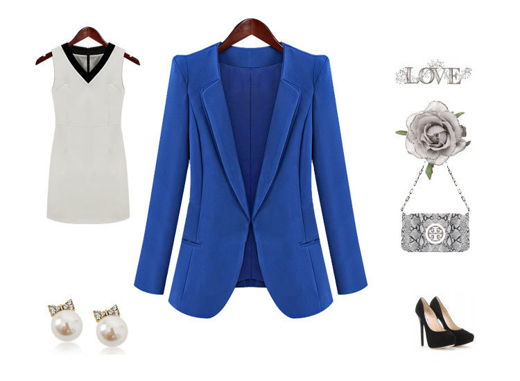 款小西装小外套9173 蓝色