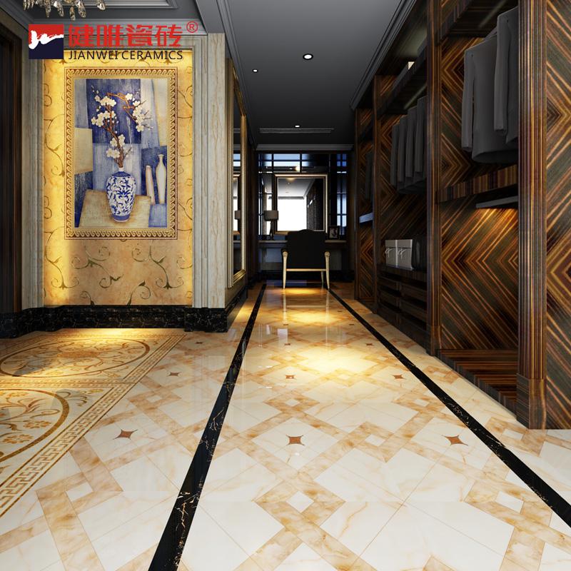 地砖拼花地板砖800*800客厅镀金抛晶砖走廊过道地砖