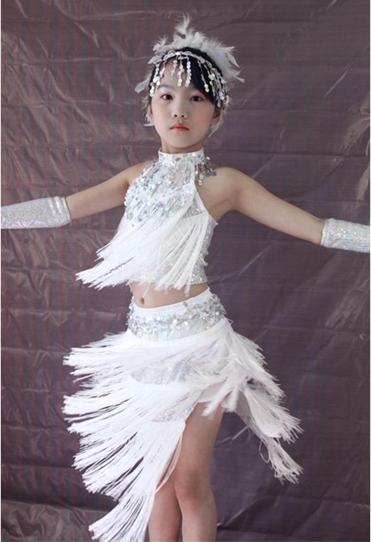 儿童拉丁舞表演服装女少儿拉丁舞演出服