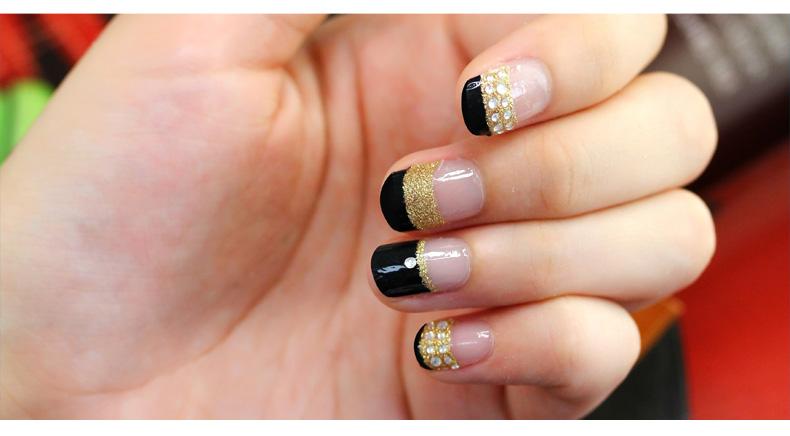 法式风情韩国进口新娘法式美甲贴纸立体手指甲jm025图片