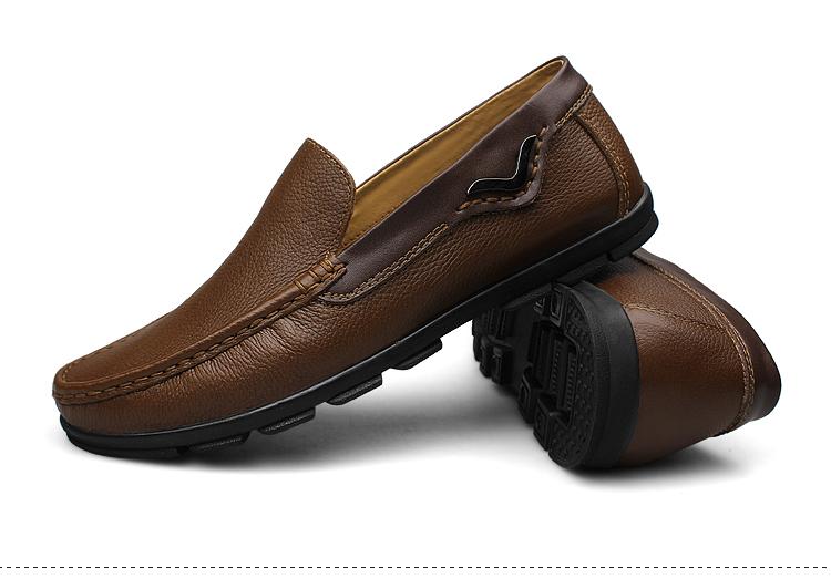 正品真皮鞋秋季男士休闲鞋韩版板鞋时尚潮流大码男鞋