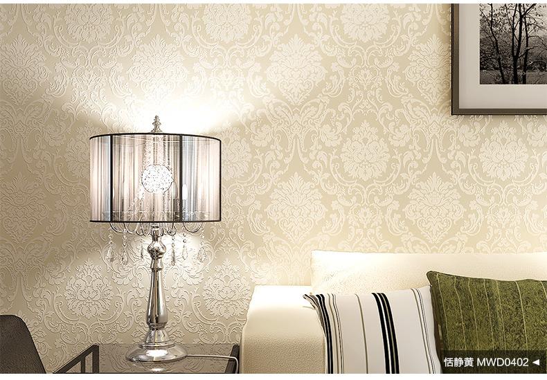纸秀壁纸 欧式无纺布墙纸 客厅沙发电视背景大马士革卧室书房壁纸图片