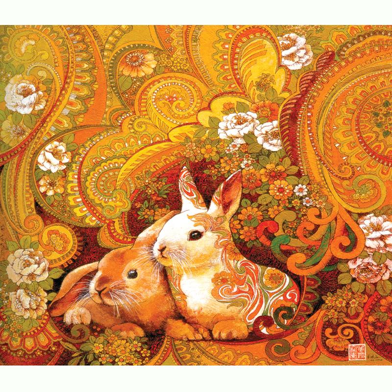 拼图 进口材质高档拼图500片木质拼图 风景油画 装饰画 十二生肖 喜气