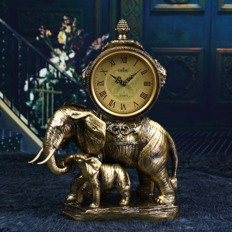 丽盛(lisheng)/欧式复古风格大小象座钟/太阳静音机芯图片