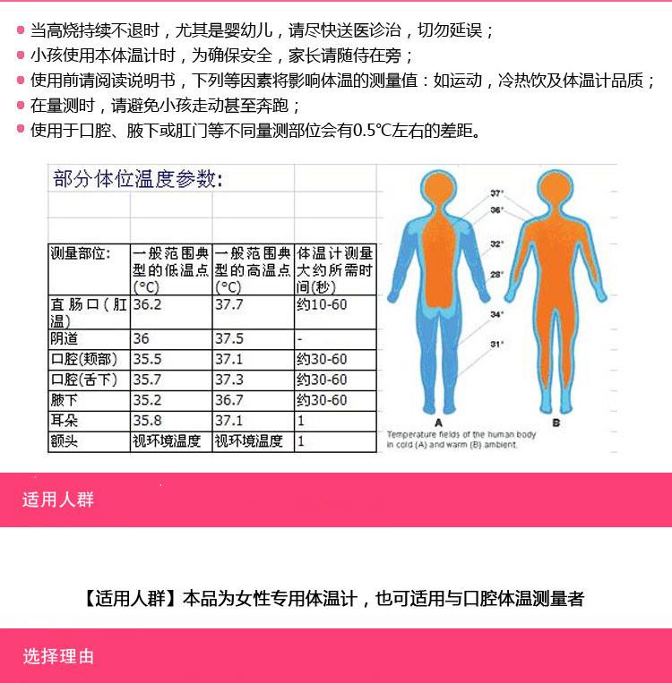 欧姆龙女性测排卵基础电子体温计mc 342fl