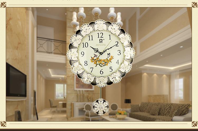 京东商城 佳话坊 客厅钟表挂钟 欧式时尚创意卧室时钟图片