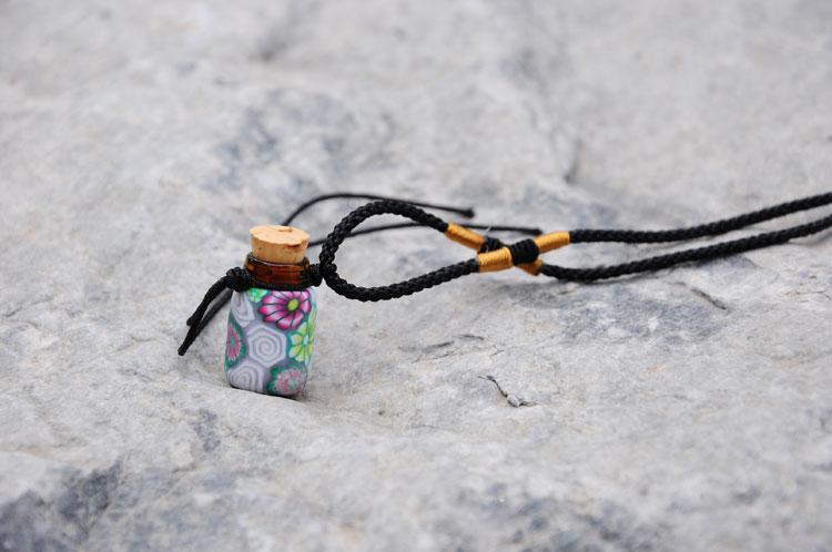 全软陶精油瓶项链吊坠 闻香香水瓶 精油项链饰品 精致