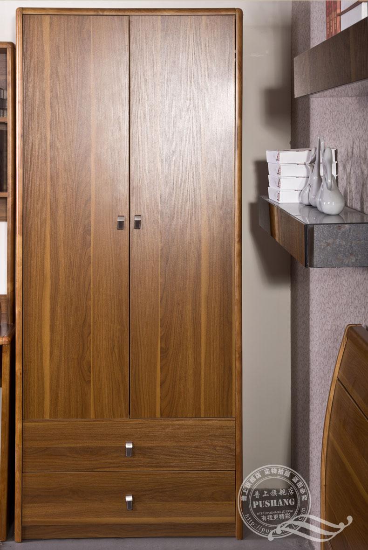 普上 儿童衣柜实木衣柜双门衣柜推拉门衣橱小衣柜简约