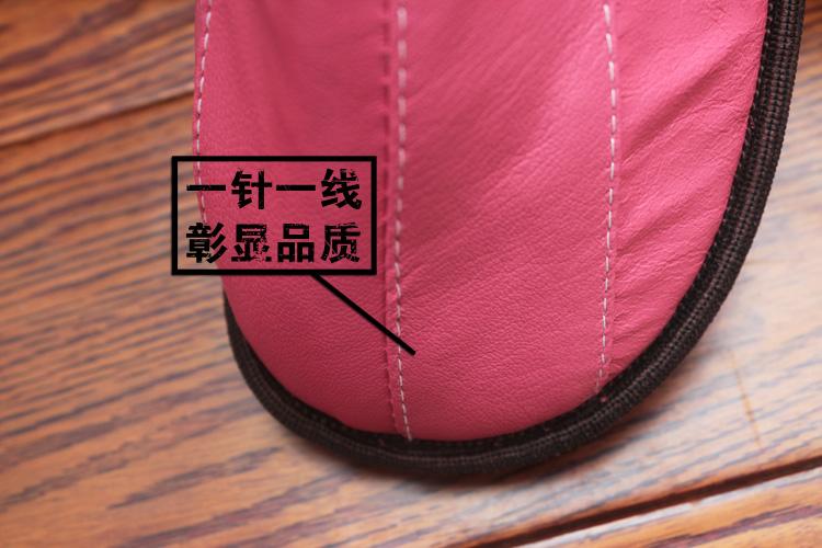 极地雪(jidixue)2014冬季家居海宁真皮棉拖鞋jdx007