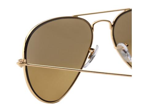 aviator mirror sunglasses ray ban  pair of ray-ban