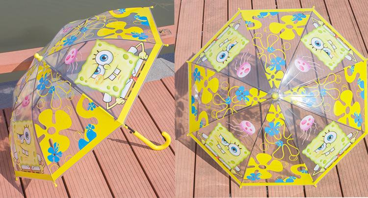 雨伞日韩学生小朋友礼物直杆透明伞蜘蛛侠 苏菲亚玫红透明雨伞2-8岁图片