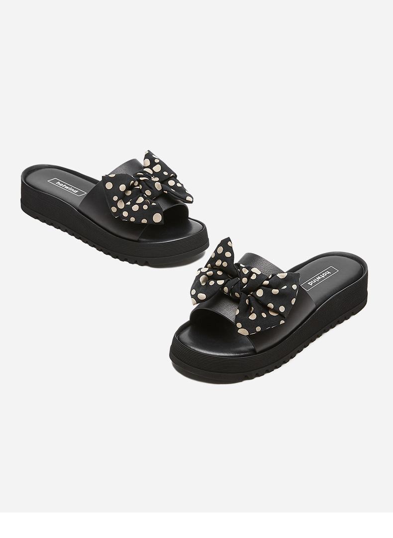 热风女鞋2020年夏季新款女士松糕底厚底凉鞋 01黑色 38正码