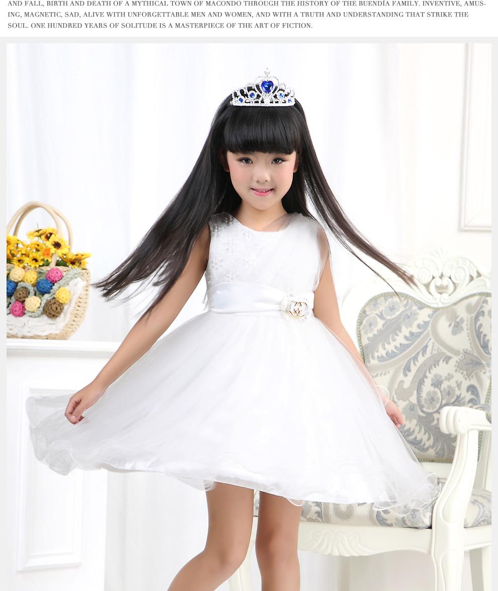 优优1点 儿童婚纱女童礼服花童公主礼服裙蓬蓬连衣裙夏装童装2015表演
