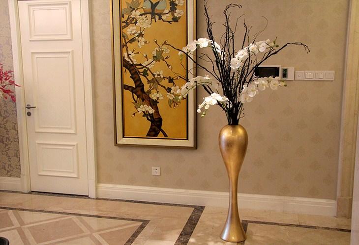 客厅树藤手绘图片