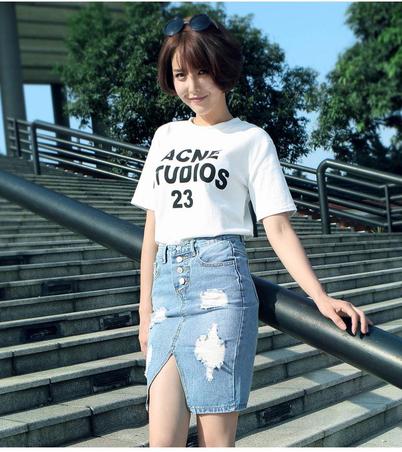 牛仔超短紧身裙 高给超短迷你裙女孩 包臀裙 超短紧身裙诱惑图片