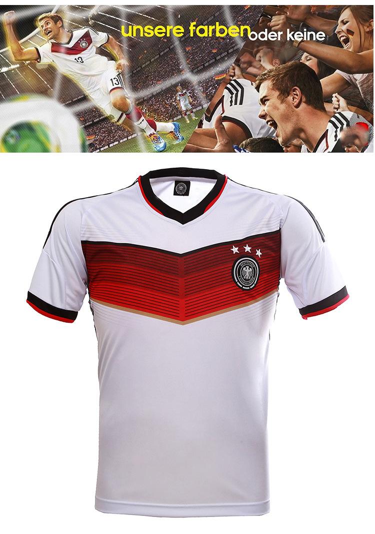 14-15欧冠世界杯德国队球衣套装短袖足球训练服高品质图片