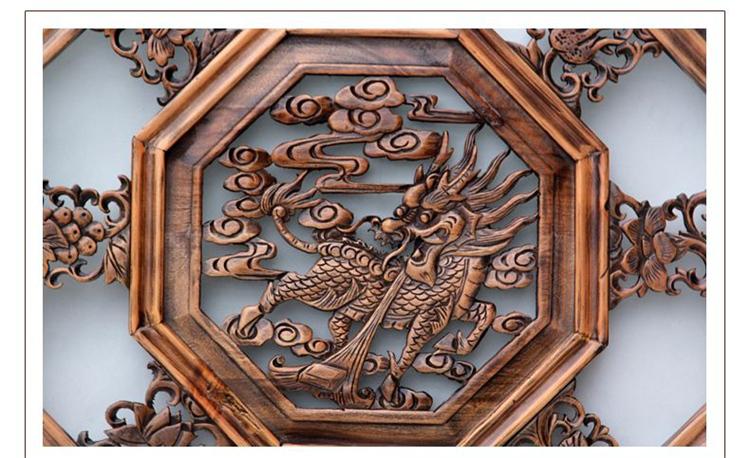 罗诗玛诺 东阳木雕挂屏装饰品 客厅墙面装饰挂件 创意家居东阳木雕图片
