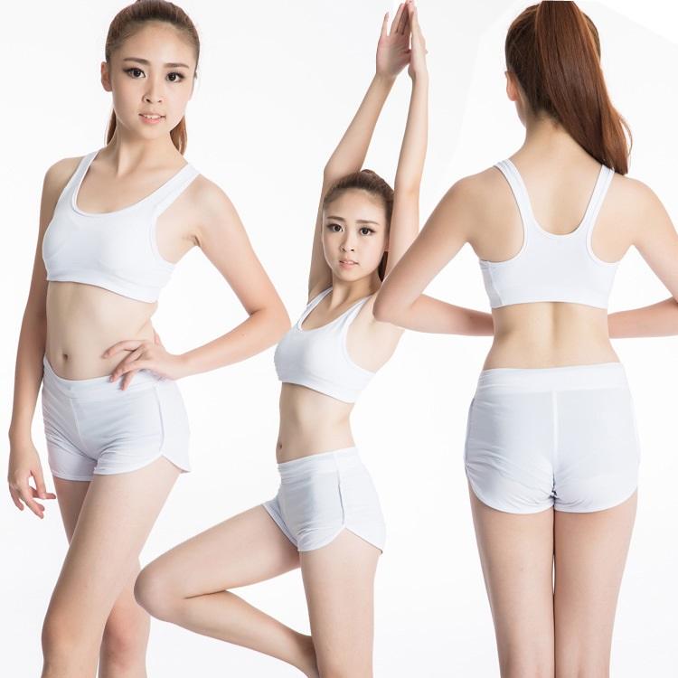 刻沫 夏季健身瑜伽短裤女防走光内衬热裤 女士运动跑步排汗速干3分