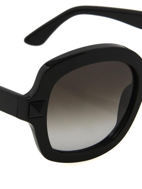 oversized black aviator sunglasses  oversized square-framed