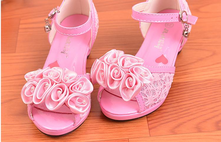 儿童女生靴子高跟鞋