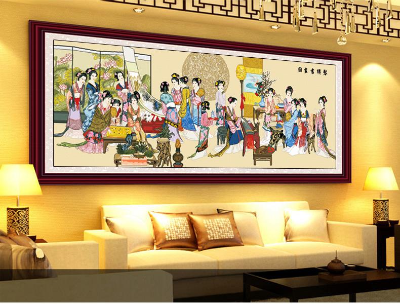 十字绣琴棋书画 古代仕女图印花客厅新款人物系列图片