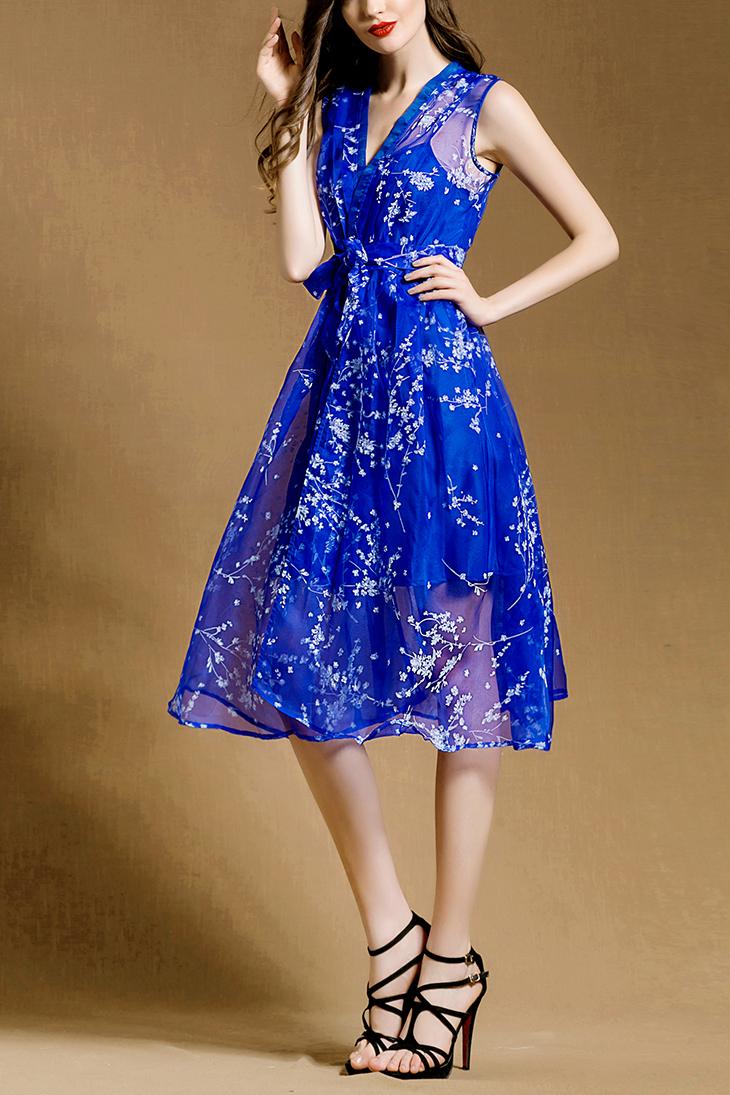 连衣裙麻长