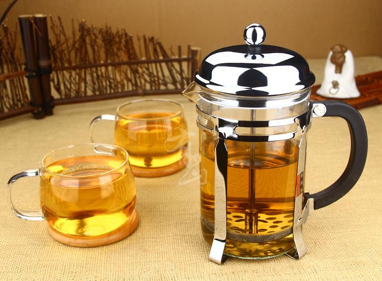 玻璃茶壶咖啡壶法压壶不锈钢过滤法式滤压家用冲茶器泡茶壶 850ml单壶