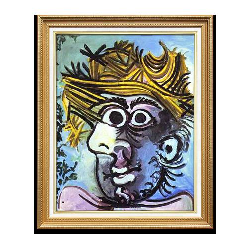 客厅有框画 现代纯手绘人物抽象油画 挂画 壁画 毕加索003 单幅含框尺