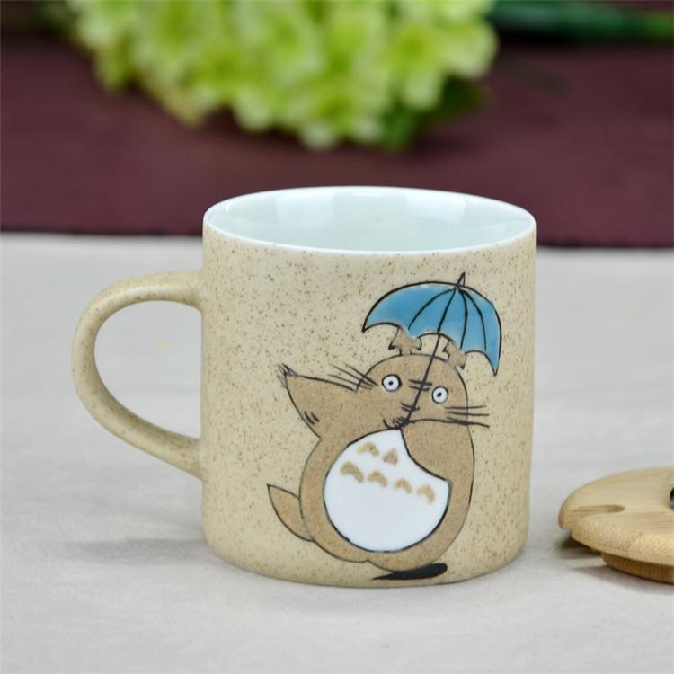鹤礼 景德镇创意手绘陶瓷办公室情侣杯咖啡杯 水杯带