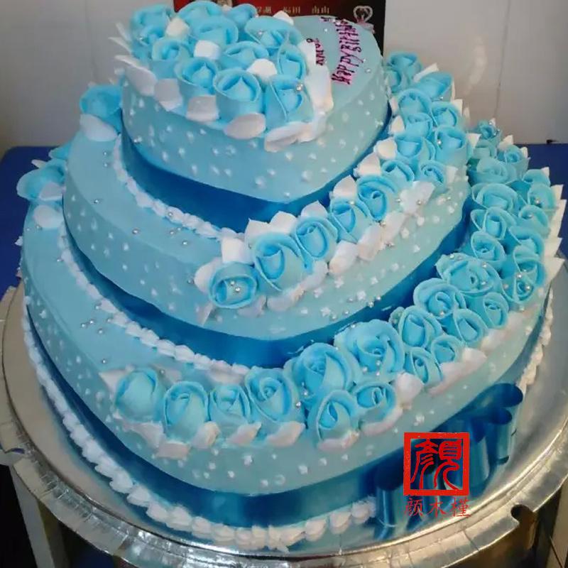 个性生日蛋糕 粉色花朵蛋糕图片
