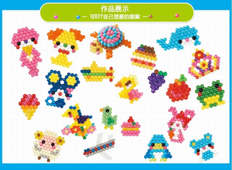 水霚魔珠 epoch水雾魔珠套装玩具 儿童手工diy益智玩具串珠 水粘珠