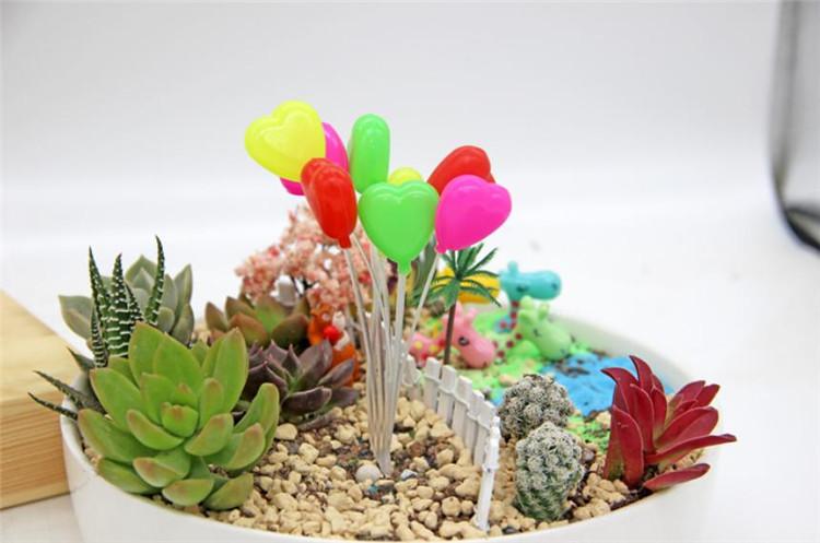 春曲 多肉植物摆件苔藓造景饰品diy 心形气球高约16cm
