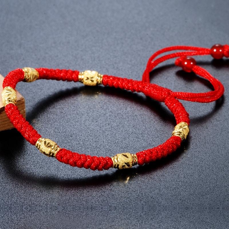 黄金戒指的防磨红绳怎么编