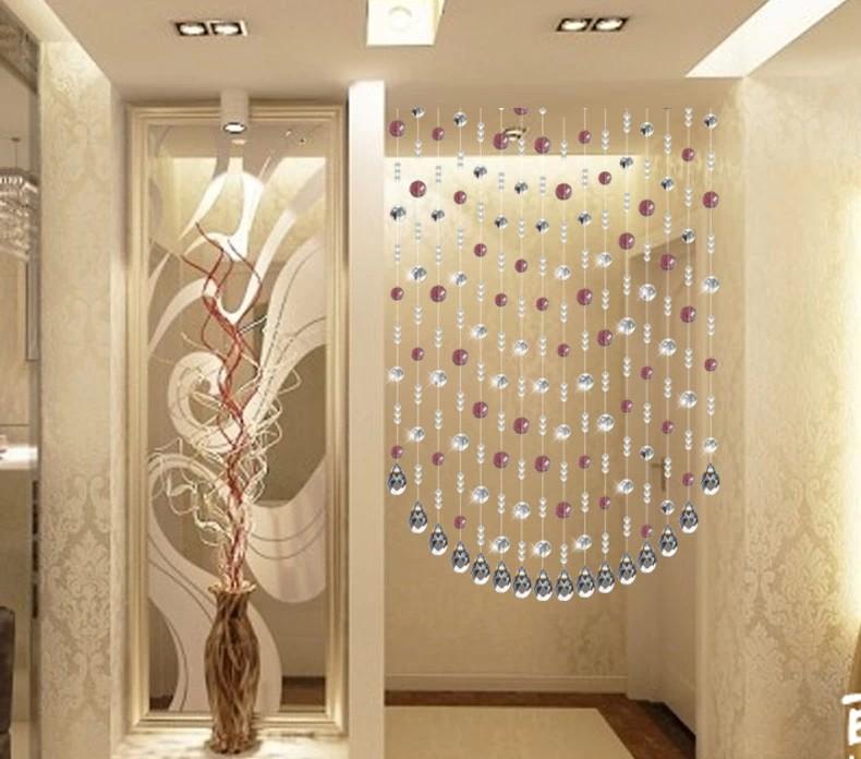 昌辉 招财门帘水晶玻璃珠帘卫生间隔断帘成品客厅家居