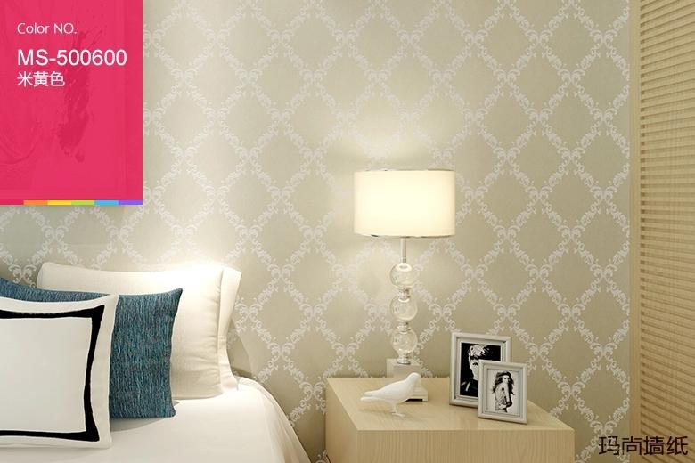 m玛尚欧式菱形格子卧室无纺布墙纸客厅餐厅电视背景墙壁纸 凯特ms-500图片