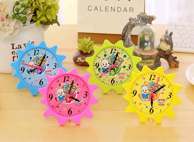 创意可拆小太阳钟点学习器小学一年级数学时间认识时钟玩具 粉色