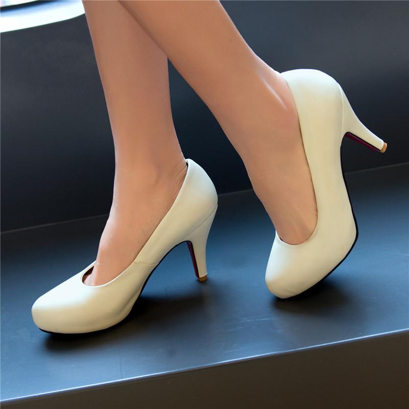 韩版春季新款单鞋 细跟浅口高跟鞋 舒适百搭女鞋 女式