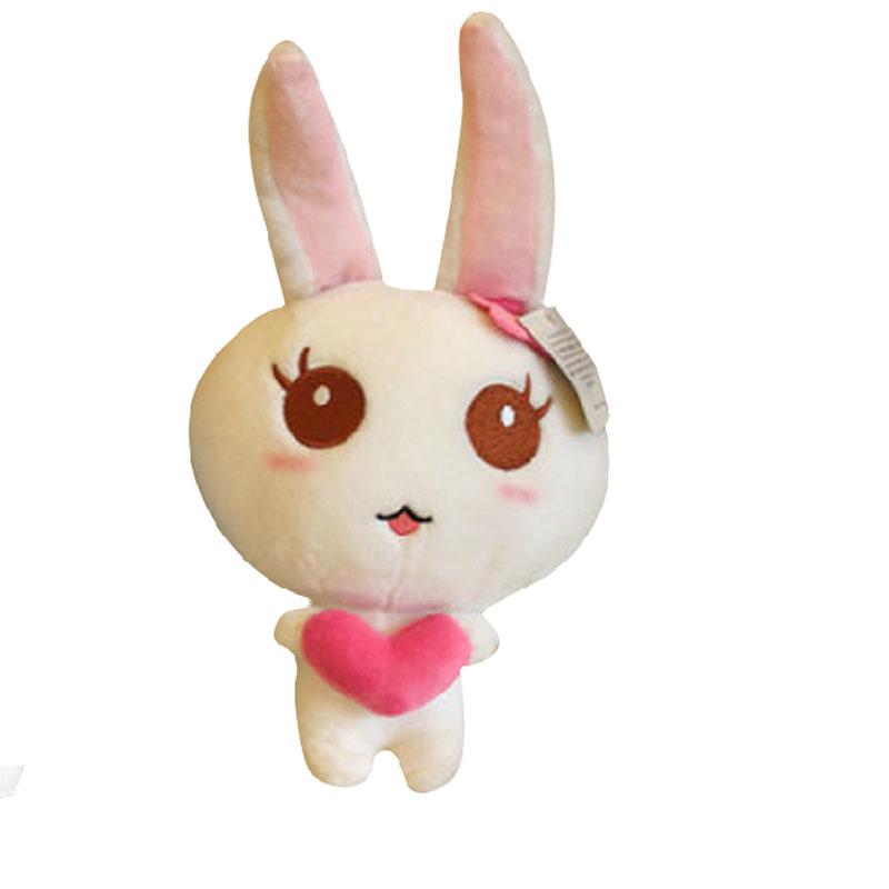 毛绒玩具 农场兔 可爱小白兔子公仔牧场兔子 布娃娃 婚庆礼品小礼物
