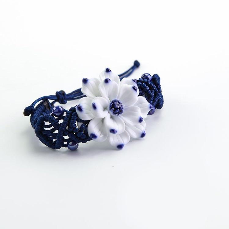 莲生手工手绘陶瓷首饰手链