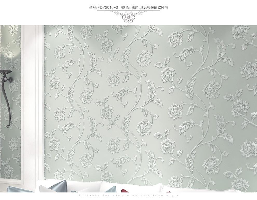 梵迪欧壁纸欧式无纺布欧式田园卧室客厅电视背景墙