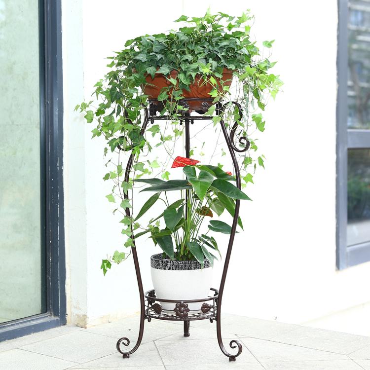 有嘉 欧式铁艺花架 落地式客厅室内三层花盆架 植物架