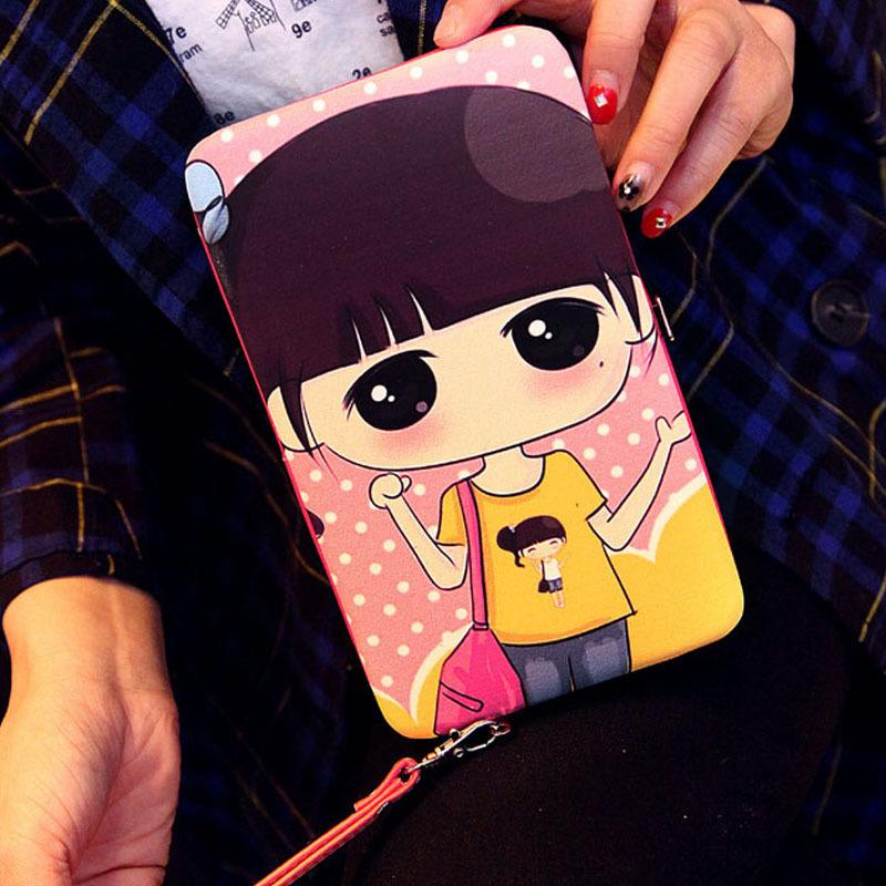 2015新款日韩卡通可爱sd娃娃铅盒钱夹 高端印花撞色女士钱包cy-wz